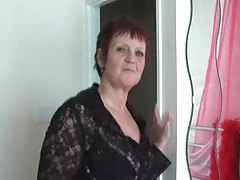 Lingerie granny stripping in bedroom tubes