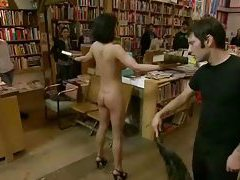 Brunette whore undressed and fucked in various public places in total humiliation tubes