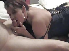 BBW in lingerie giving a blowjob tubes