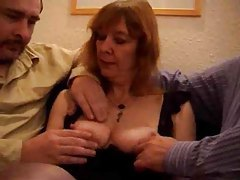 Mature British slut does a DP tubes