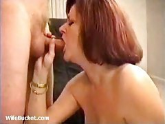 Smoking chick gives head and tit fucks tubes