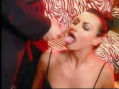 Multiple cumshots for hot lipstick girls tubes