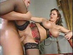 Lingerie girl with big titties boned tubes