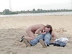 Naked girl sucks him and rides him at beach tubes
