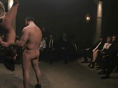 Girl violated in front of an audience tubes