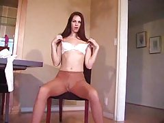 Girl in pantyhose gives masturbation instructions tubes