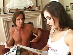 Two older guys fucking Sasha Grey hard tubes