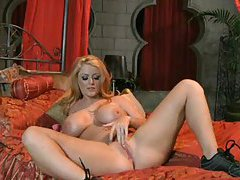 Sophie Dee as a blonde masturbating pussy tubes