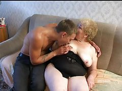 Chubby granny fucked by eager young man tubes