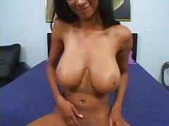 Skinny black chick with big natural tits fucking tubes