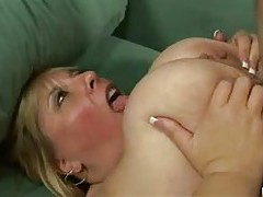 Jiggly fat slut filled with hard dick tube