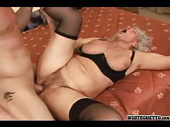 Granny with a fat ass fucked hard tubes