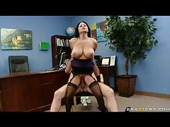 Curvaceous pornstar with big tits screwed in office tubes