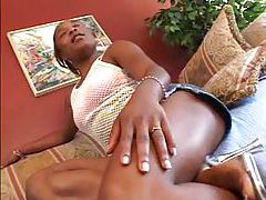 Fat black dick meat inside her mouth tubes