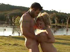 Cowboy fucks a big ass blonde in the country tubes