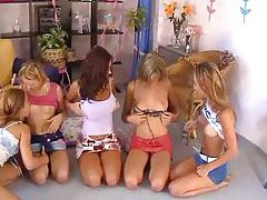 Five lesbians with tight bodies go wild tubes