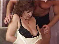 Granny in lingerie loves young man cock tubes