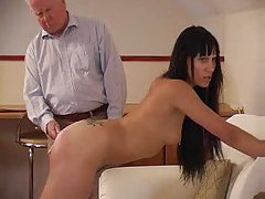 Girl is spanked and then caned hard tubes
