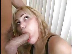 Shemale sucks his big cock and gets fucked tubes