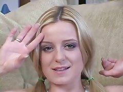 Cute blonde talks dirty to you tubes