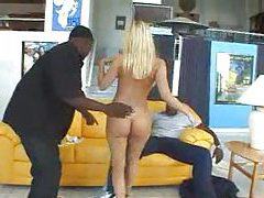 White girl shaking her ass for black guys tube