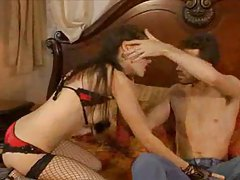 Sasha Grey gorgeous striptease and anal tubes