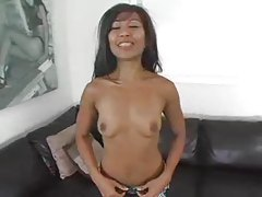 Asian girl fucked until he facials her tubes