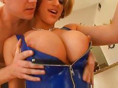 She models latex and goes big cock anal tubes