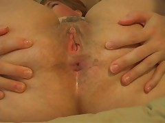Fingering her asshole and going deep tubes