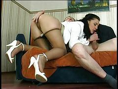 His secretary takes his hard cock tube