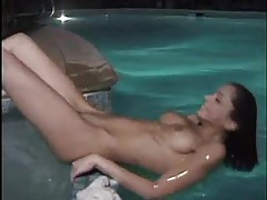 Naked pussy eating in the hot tub tubes