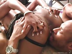 Slender black girl with big black meat dude tubes