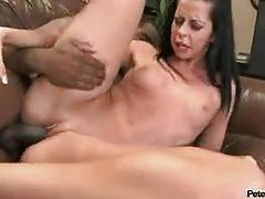 Black cock in her mouth and pussy tubes