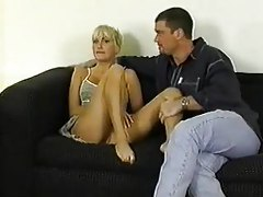 She lets two guys use her young blonde body tubes