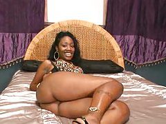 Ebony hottie impaled on big cock tubes