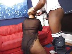 He licks her ass and fucks her black pussy tubes