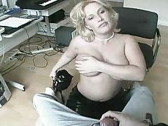 Busty blonde goes down on him tubes