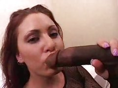 Pretty chick with big ass is crazy for black cock tubes