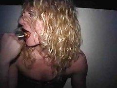 Amateur blonde sucks cock at gloryhole tubes