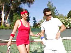 Penny Flame fucked by her tennis coach tubes