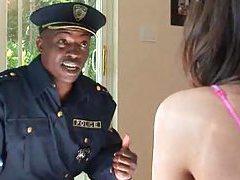 Black cop dude fucks Tori Black tubes