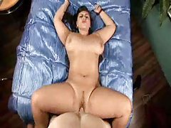 Chubby girl on her back jiggling during sex tubes