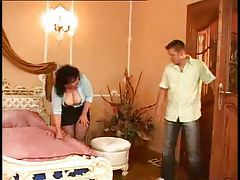 Chubby Italian mature and her two lovers tubes