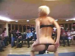 Girl does a gangbang for an audience tubes