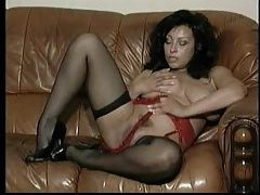 Sultry striptease from big tits milf tubes