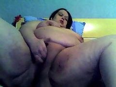 Huge fatty masturbates on her webcam tubes