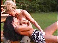 Outdoor fingering with two busty hotties tubes