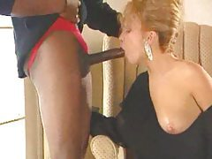 Huge black dick in blonde from classic movie tubes