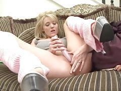 Super cute Carli Banks using toy on her pussy tubes
