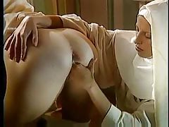 Nuns blow the priest and fist deeply tubes